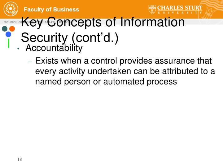 Key Concepts of Information Security (cont'd.)
