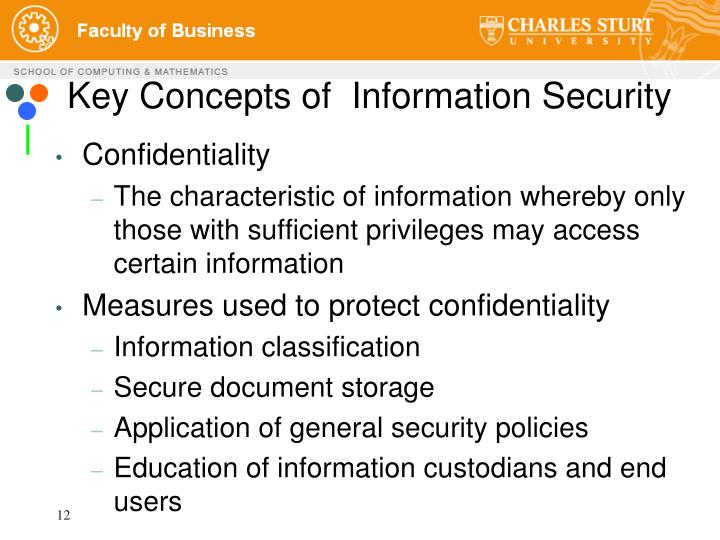 Key Concepts of  Information Security