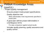 pmbok knowledge areas cont d7