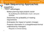 task sequencing approaches cont d5