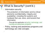what is security cont d
