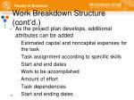 work breakdown structure cont d1