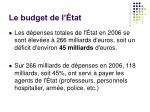 le budget de l tat1