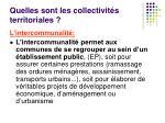 quelles sont les collectivit s territoriales1