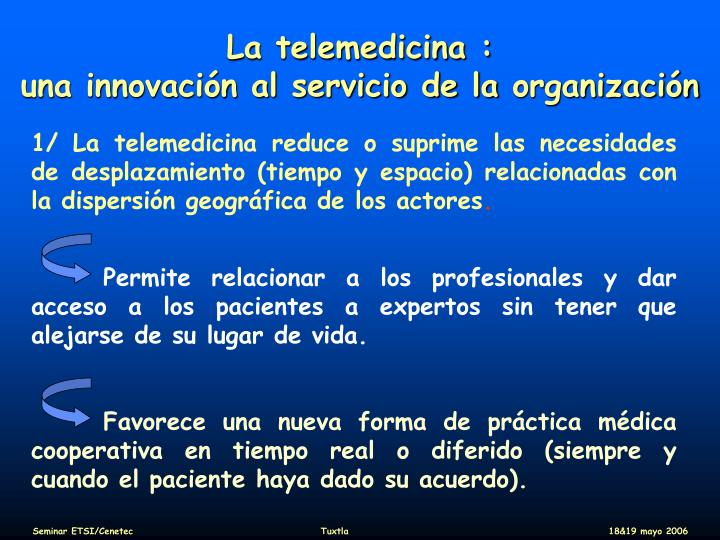 La telemedicina :