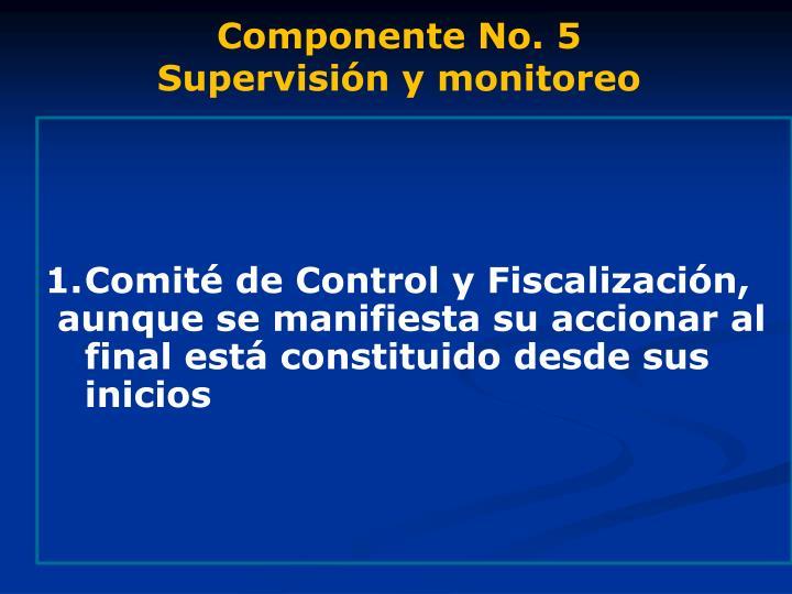 Componente No. 5