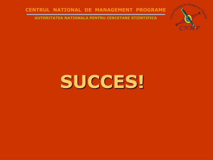 CENTRUL  NATIONAL  DE  MANAGEMENT  PROGRAME