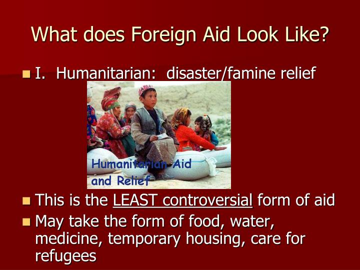 What does Foreign Aid Look Like?