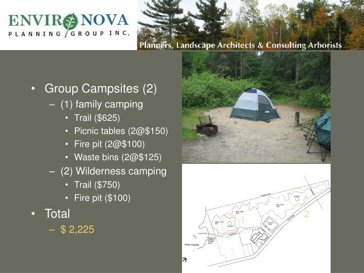 Group Campsites (2)