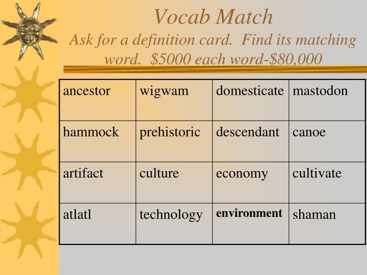 Vocab Match