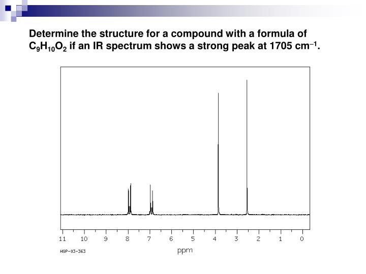Determine the structure for a compound with a formula of C