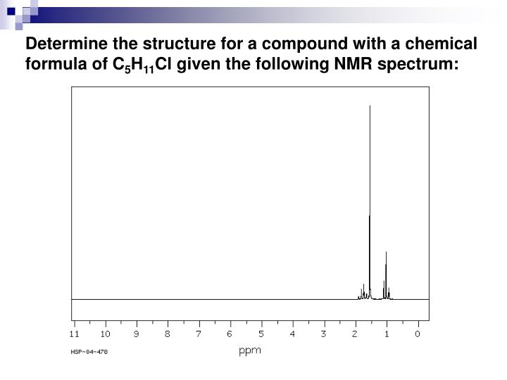 Determine the structure for a compound with a chemical formula of C