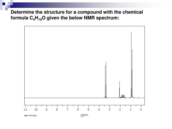 Determine the structure for a compound with the chemical formula C