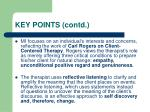key points contd