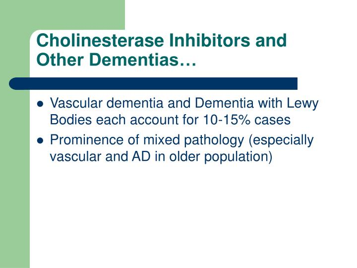 Cholinesterase Inhibitors and Other Dementias…