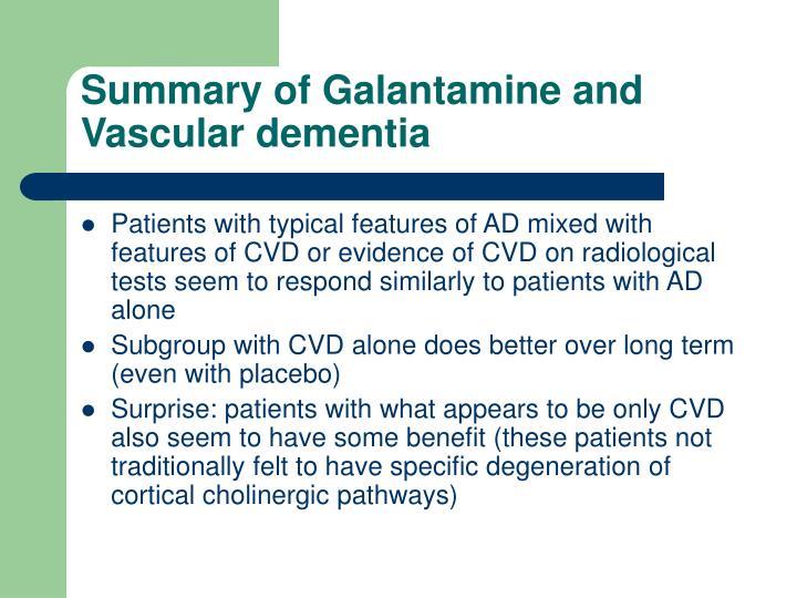 Summary of Galantamine and Vascular dementia