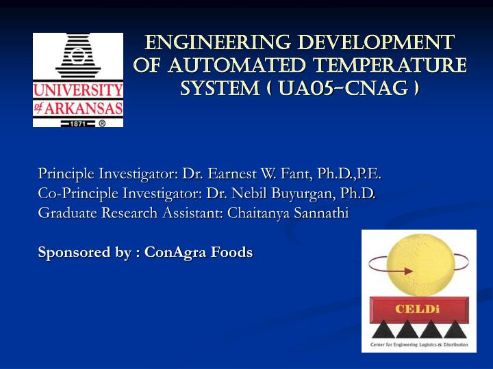 engineering development of automated temperature system ua05 cnag
