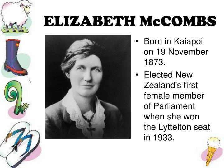 ELIZABETH McCOMBS