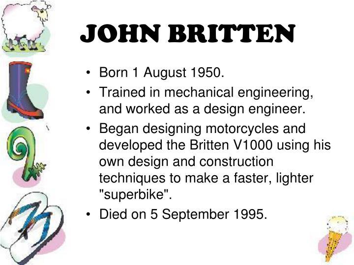 JOHN BRITTEN