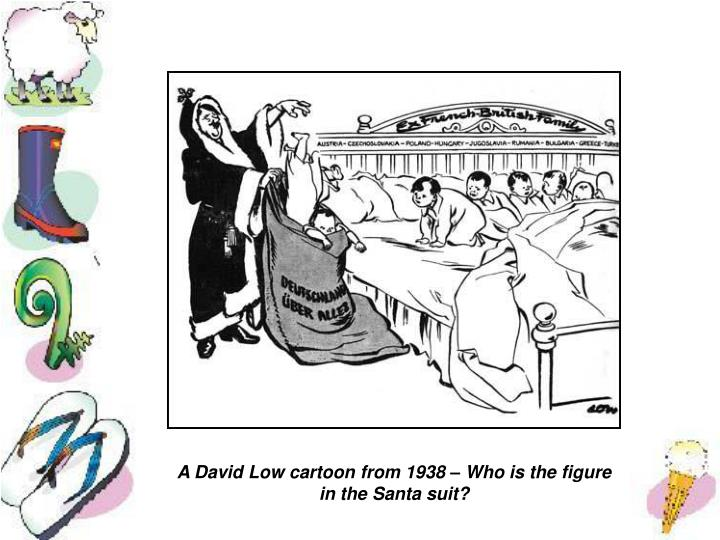 A David Low cartoon from 1938 – Who is the figure in the Santa suit?