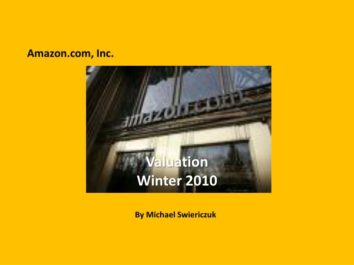 valuation winter 2010 n.