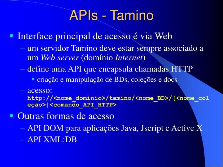 APIs - Tamino