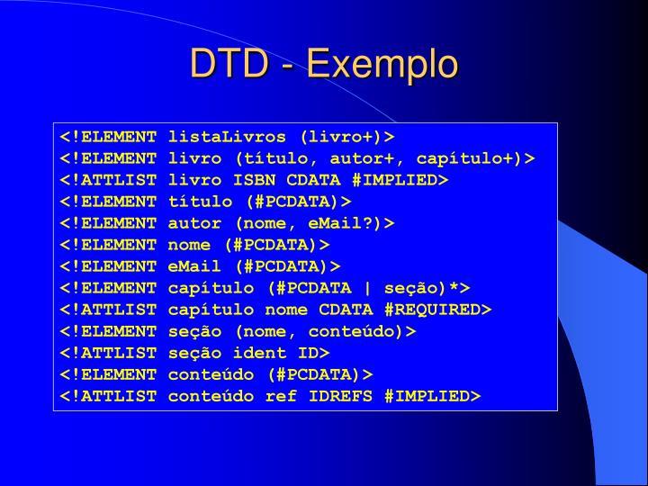 DTD - Exemplo