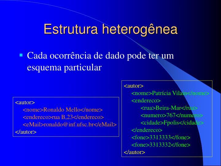 Estrutura heterogênea