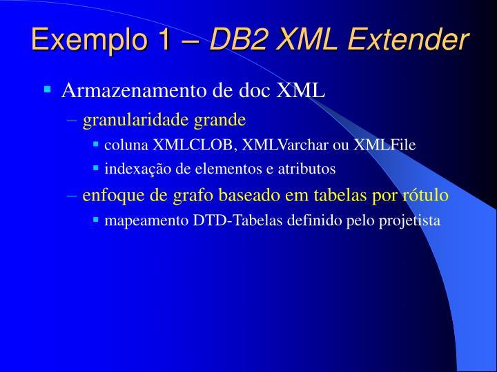 Exemplo 1 –