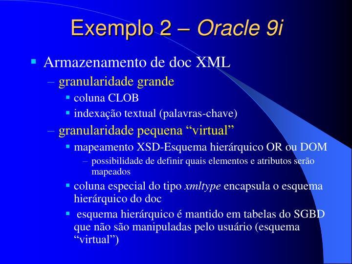 Exemplo 2 –