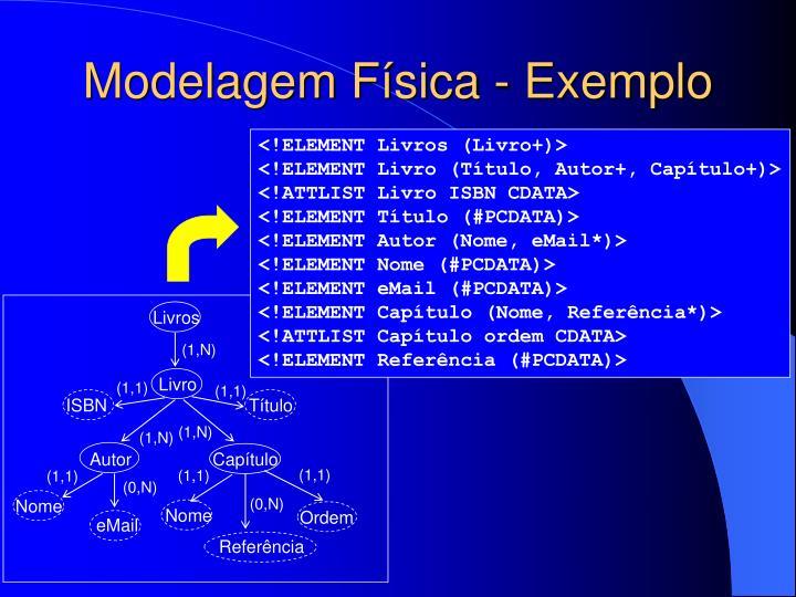 Modelagem Física - Exemplo