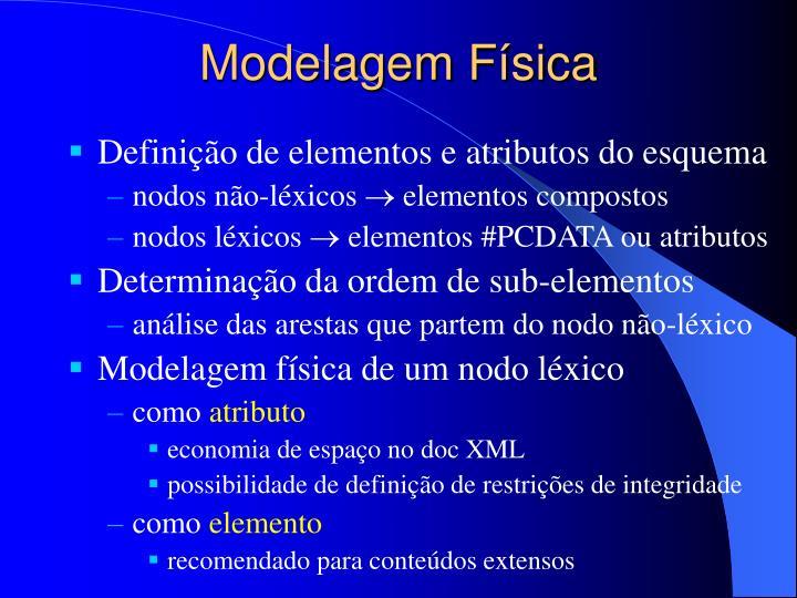 Modelagem Física