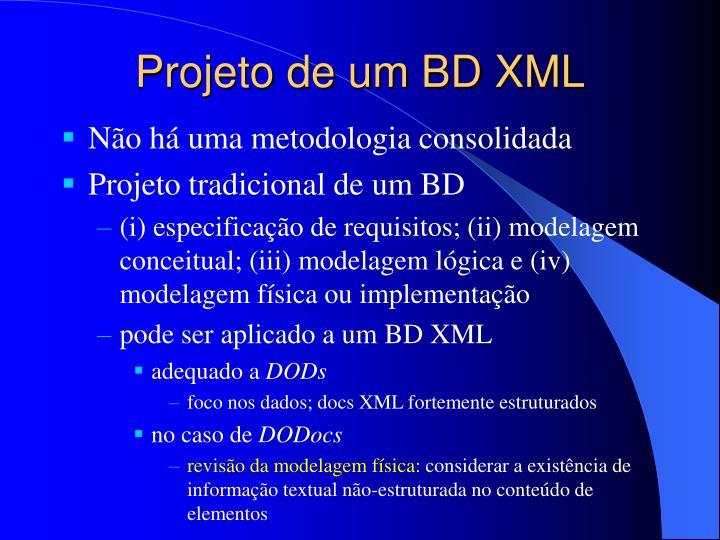 Projeto de um BD XML