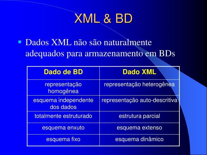 XML & BD