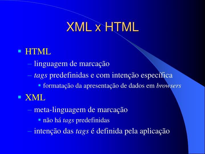 XML x HTML