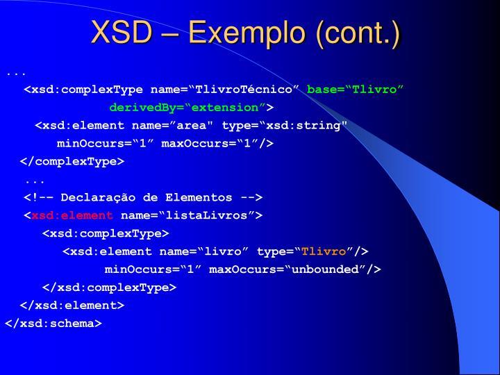 XSD – Exemplo (cont.)
