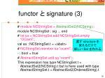 functor signature 3