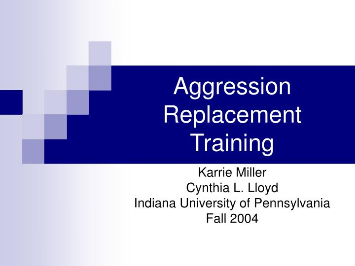 aggression replacement training n.