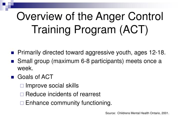 an overview of the topic of the anger Anger management is a therapeutic approach designed to help people   retrieved from   awalt,.