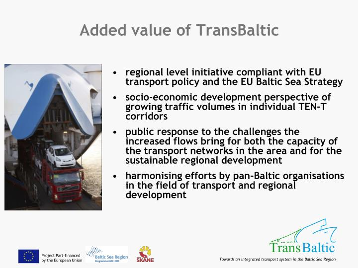 Added value of TransBaltic