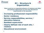 b3 structure organization