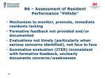 b6 assessment of resident performance pitfalls