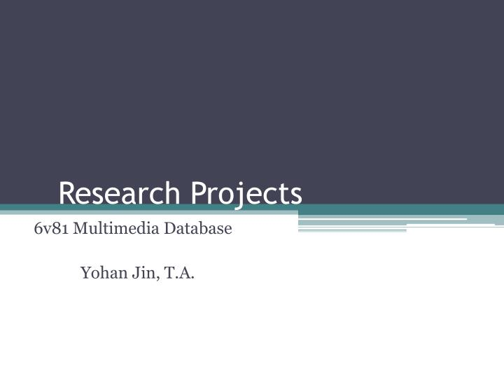 research projects n.