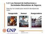 1 2 1 ley general de instituciones y sociedades mutualistas de seguros