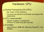 hardware cpu