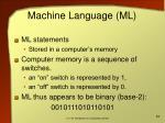 machine language ml