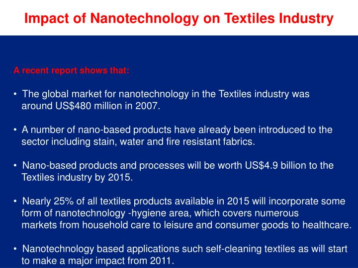 Impact of Nanotechnology on Textiles Industry