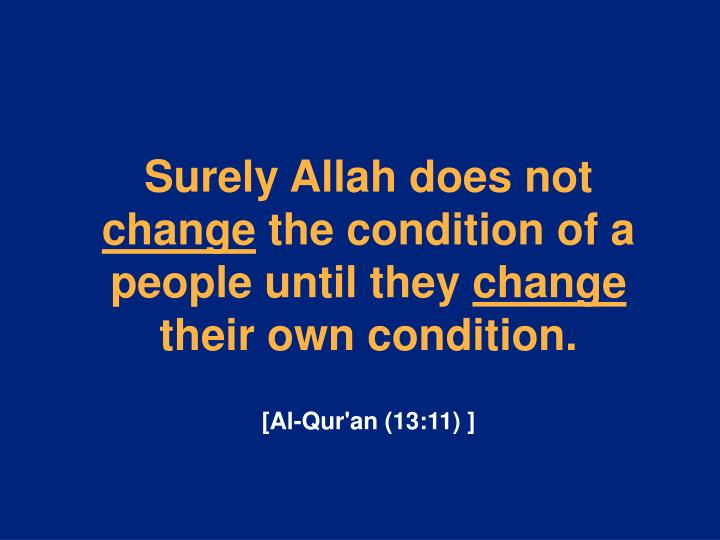 Surely Allah does not