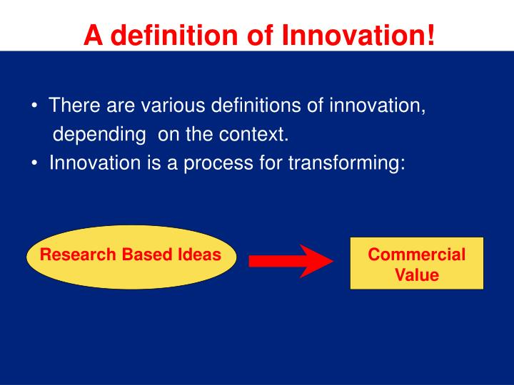 A definition of Innovation!