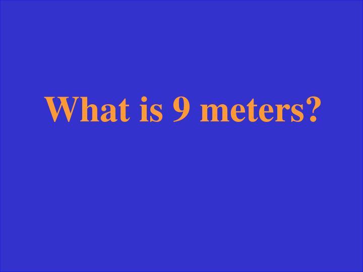 What is 9 meters?